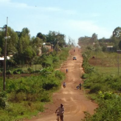 Dusty road from Namboboto