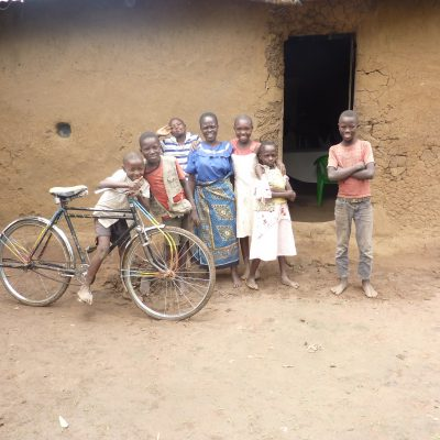 A widow with her grandchildren