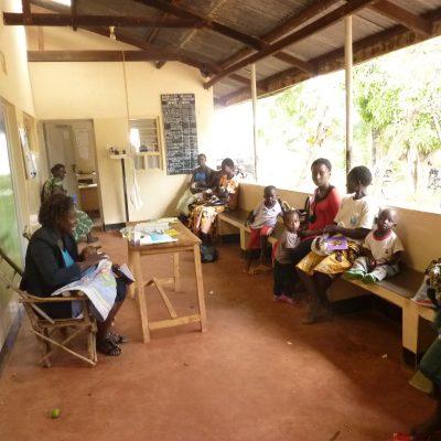 Patients at Namboboto clinic